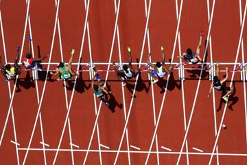 The opening round of the 110m hurdles at the IAAF World Championships London 2017 (Getty Images)