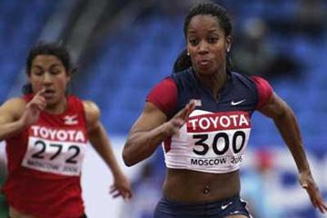 Me'Lisa Barber of USA in action at the 2006 World Indoors (Getty Images)