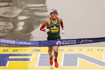 Yuki Kawauchi wins the Boston Marathon (Justin Britton)