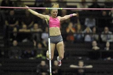 Anna Rogowska at the 2010 Polish indoor champs (Adam Nurkiewicz - Mediasport)