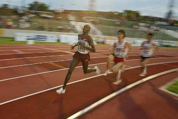 Charles Koech en route to his Asian junior 5000m title (organisers)