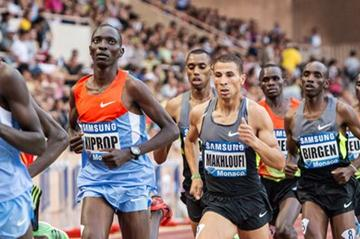 Asbel Kiprop in the pack in Monaco (Philippe Fitte)