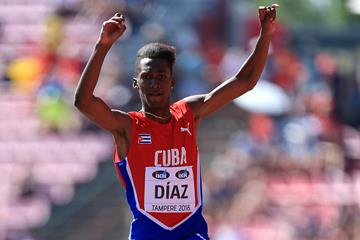 Jordan Diaz in the triple jump at the IAAF World U20 Championships Tampere 2018 (Getty Images)