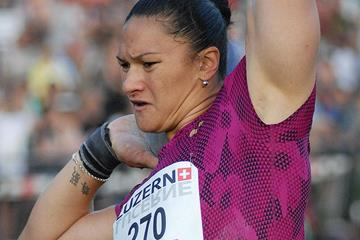 Valerie Adams, winner of the shot in Lucerne (Spitzen Leichtathletik Luzern / Ruben Wey)