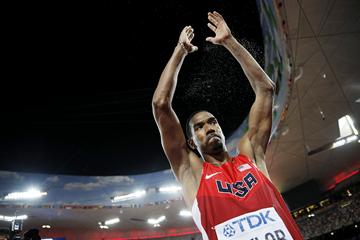 Christian Taylor in the triple jump final at the IAAF World Championships Beijing 2015 (AFP / Getty Images)