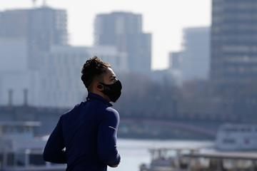 A lone jogger in London (AFP/Getty Images)