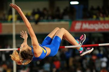 Yaroslava Mahuchikh in the high jump at the IAAF World U18 Championships Nairobi 2017 (Getty Images)