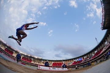 Maikel Vidal in the long jump at the IAAF World U18 Championships (Getty Images)