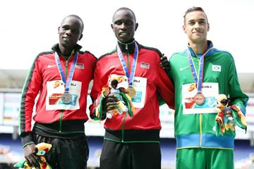 The boys' 800m podium at the IAAF World Youth Championships, Cali 2015 (Getty Images)