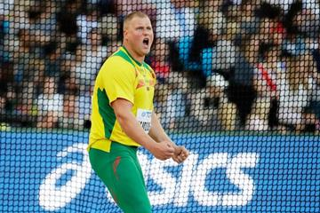 Andrius Gudzius of Lithuania, the discus winner at the IAAF World Championships London 2017 (Getty Images)