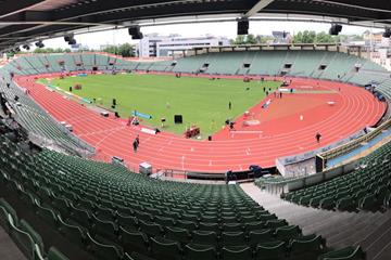 New track at Bislett Stadium (IAAF)