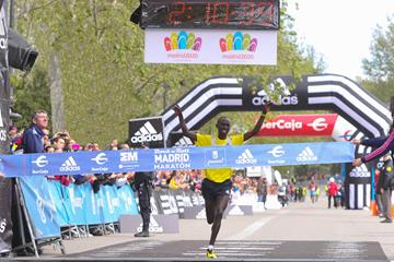 Francis Kiprop of Kenya wins the Madrid Marathon (Organisers)