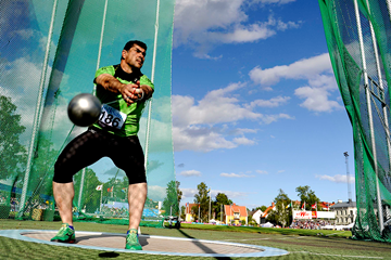 Dilshod Nazarov, winner of the hammer in Karlstad (DECA Text & Bild)