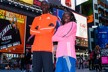 Wilson Kipsang and Mary Keitany in New York City (Getty Images)