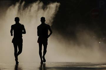 The men's race walk in action (Getty Images)