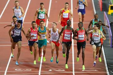 Close! Heat 1 of the first round of the men's 1500m at the IAAF World Championships London 2017 (Getty Images)