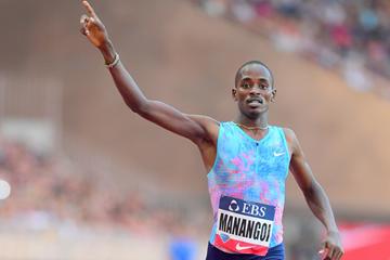 Elijah Manangoi wins the 1500m at the IAAF Diamond League meeting in Monaco (Jiro Mochizuki)