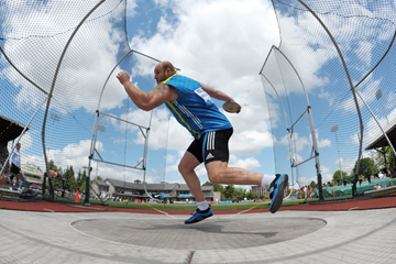 Gerd Kanter, winner of the discus at the Diamond League meeting in Eugene (Kirby Lee)