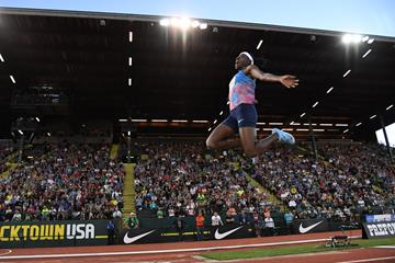 Brittney Reese in action at the IAAF Diamond League Meeting in Eugene ()