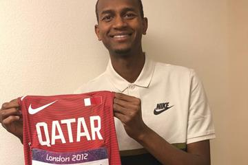 Mutaz Barshim with his 2012 Olympic kit (IAAF)
