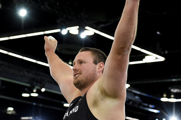 Tomas Walsh wins the shot put at the IAAF World Indoor Championships Portland 2016 (AFP / Getty Images)