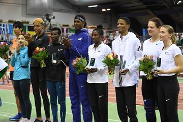 Nine of the 11 IAAF World Indoor Tour winners (Gladys Chai von der Laage)