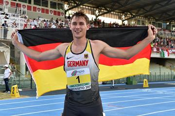 Niklas Kaul after winning the decathlon at the European U20 Championships in Grosseto (Getty Images)