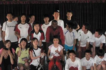 Wilson Kipketer with the Japanese Team in Mombasa Anti Doping Educational Programme (IAAF)