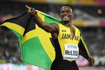 Omar McLeod after his triumph at the IAAF World Championships London 2017 (Getty Images)