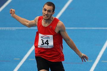 Ramil Guliyev in the 200m at the 2008 IAAF World U20 Championships in Bydgoszcz (Getty Images)