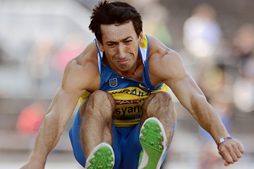 Oleksiy Kasyanov in the decathlon long jump (Getty Images)