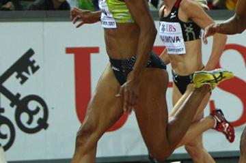 Christine Arron takes her second Zurich victory (Getty Images)