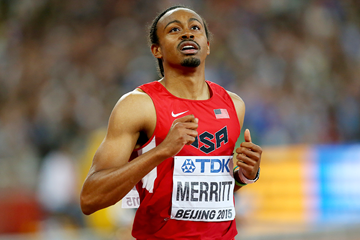 Aries Merritt in the 110m hurdles at the IAAF World Championships Beijing 2015 (Getty Images)