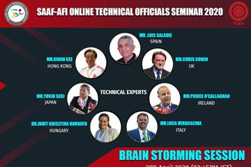 2020 online seminar for technical officials (AFI)