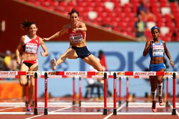 Czech Republic's Zuzana Hejnova in the 400m hurdles heats at the IAAF World Championships, Beijing 2015 (Getty Images)