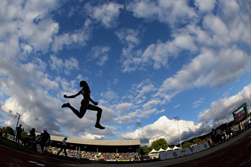 Action from the long jump (Getty Images)