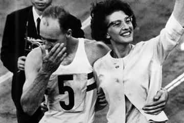 Ken Matthews after winning the 1964 Olympic 20km race walk title (Getty Images)
