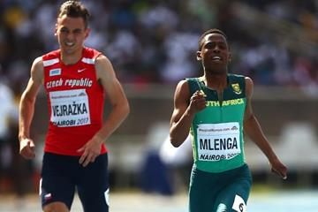 Retshidisitswe Mlenga in the 200m at the IAAF World U18 Championships Nairobi 2017 (Getty Images)