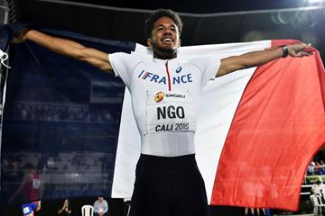 Matteo Ngo at the IAAF World Youth Championships, Cali 2015 (Getty Images)