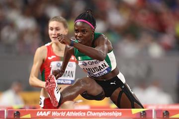 Tobi Amusan breezes through her 100m hurdles semi-final at the IAAF World Championships Doha 2019 (Getty Images)