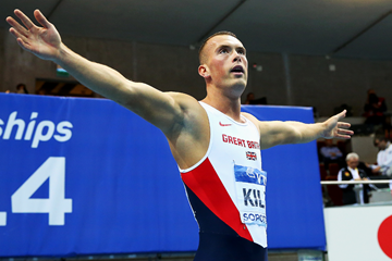 Richard Kilty after winning the 2014 world indoor 60m title (Getty Images)