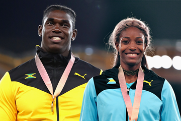Fedrick Dacres and Shaunae Miller-Uibo (Getty Images)