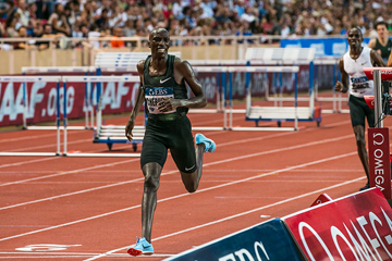 Timothy Cheruiyot wins the 1500m at the IAAF Diamond League meeting in Monaco (Philippe Fitte)