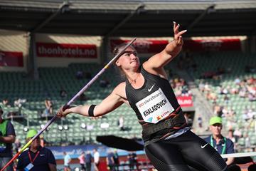 Oslo javelin winner Tatsiana Khaladovich (Giancarlo Colombo)