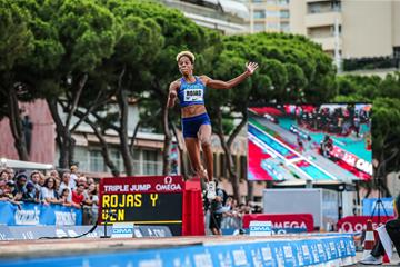 Yulimar Rojas sailing to victory in Monaco (Philippe Fitte)