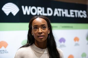 World 400m hurdles champion Dalilah Muhammad (Philippe Fitte)