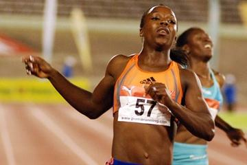 Veronica Campbell-Brown takes the 200m at the 2009 Jamaican Champs (Anthony Foster for the IAAF)