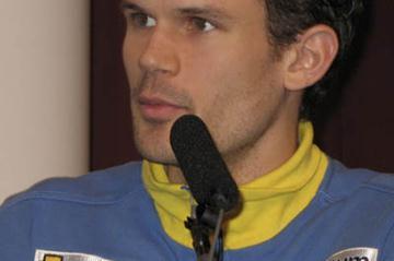 Stefan Holm at the LOC press conference in Birmingham (Bob Ramsak)