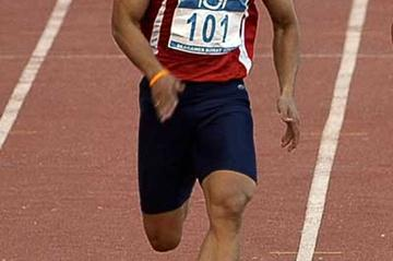Wachara Sondee - lead off man for the Thai 4x100m squad - seen here running to silver in the individual 100m at the SEA Games (AFP / Getty Images)