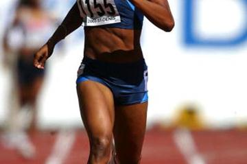 Sanya Richards of the USA in the 400m heats (Getty Images)